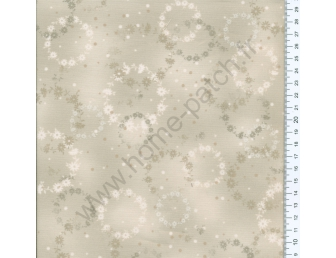 Tissu patchwork japonais Kumiko Minami ronds fond mastic