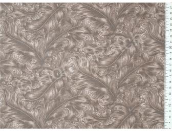 Tissu patchwork japonais avec plumes beiges