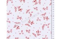 Tissu patchwork japonais LECIEN petit imprimé bordeaux fond écru