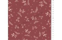 Tissu patchwork japonais LECIEN petit imprimé écru fond bordeaux