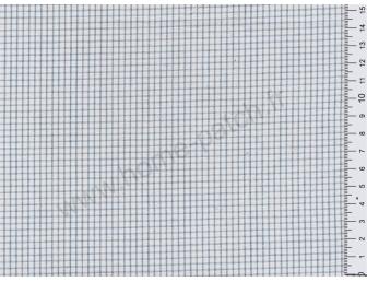 Tissu patchwork japonais LECIEN tissé petit écossais bleu fond écru
