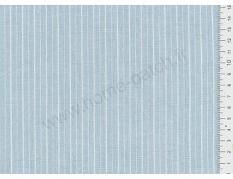 Tissu patchwork japonais LECIEN tissé rayé bleu clair