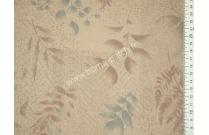 Tissu patchwork japonais LECIEN feuillages fond beige