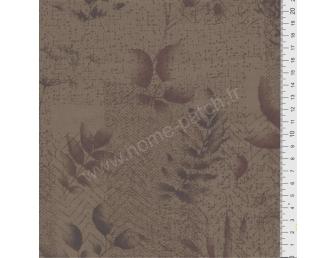 Tissu patchwork japonais LECIEN marron avec feuillages