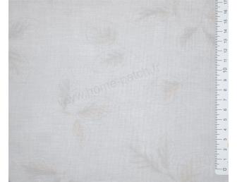 Tissu patchwork japonais LECIEN imprimé feuilles fond clair bleuté
