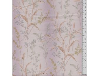 Tissu patchwork japonais LECIEN imprimé graminées fond violine