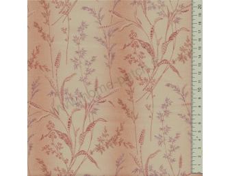 Tissu patchwork japonais LECIEN imprimé graminées beige saumon