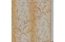 Tissu patchwork japonais LECIEN imprimé graminées fond jaune