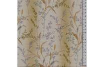 Tissu patchwork japonais LECIEN imprimé graminées fond vert pâle