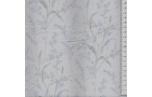 Tissu patchwork japonais LECIEN imprimé graminées fond bleu pâle