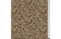 Tissu patchwork japonais LECIEN petites feuilles fond vert bronze