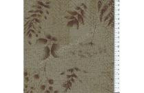 Tissu patchwork japonais LECIEN vert kaki avec feuillages