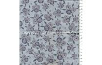 Tissu patchwork japonais Lynette Anderson pour Lecien fleurs fond gris