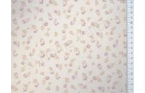 Tissu japonais patchwork LECIEN fleuri fond beige sable
