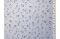 Tissu japonais patchwork LECIEN fleuri fond bleu pâle