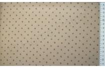 Tissu japonais patchwork LECIEN à pois fond beige foncé
