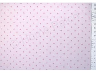 Tissu japonais patchwork LECIEN à pois roses fond rose