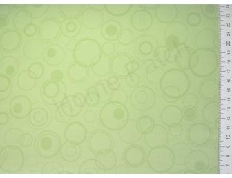 Tissu japonais patchwork LECIEN vert pistache avec ronds
