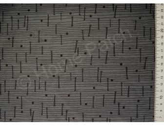 Tissu japonais patchwork LECIEN traits gris fond gris foncé
