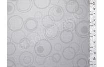 Tissu japonais patchwork LECIEN gris avec ronds