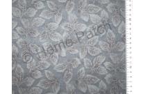 Tissu patchwork japonais LECIEN bleu canard avec feuilles