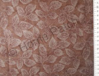 Tissu patchwork japonais LECIEN marron avec feuilles