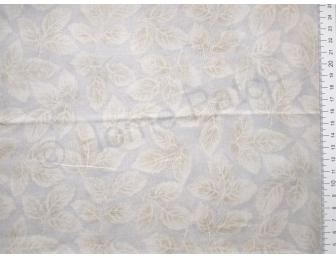 Tissu patchwork japonais LECIEN vert pâle avec feuilles