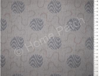 Tissu patchwork japonais LECIEN avec cercles fond gris foncé