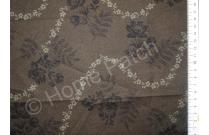 Tissu patchwork japonais LECIEN coloris marron foncé