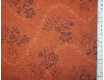 Tissu patchwork japonais LECIEN coloris orange rouille