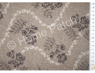 Tissu patchwork japonais LECIEN coloris beige mastic