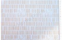 Tissu patchwork moderne bleu pâle avec traits dorés
