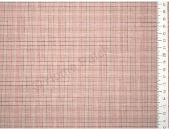 Tissu patchwork japonais tissé écossais vieux rose