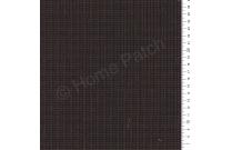 Tissu patchwork japonais tissé petit écossais marron chocolat