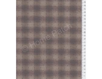 Tissu patchwork japonais tissé gros écossais marron