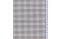 Tissu patchwork japonais tissé gros écossais bleu gris