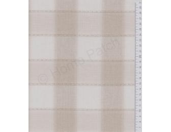 Tissu patchwork japonais tissé grand écossais brun et écru