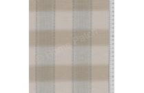 Tissu patchwork japonais tissé grand écossais bleu gris et brun