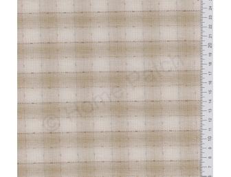 Tissu patchwork japonais tissé gros écossais beige et écru
