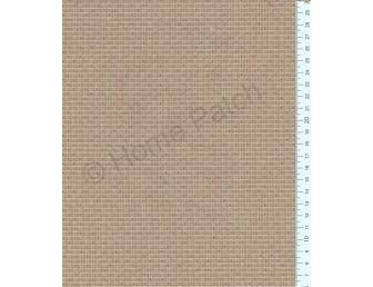 Tissu patchwork japonais tissé écossais brun noisette