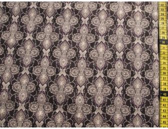 Tissu patchwork japonais Quilt Gate motif géométrique fond marron
