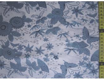 Tissu patchwork japonais SEVENBERRY papillon bleu