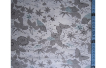 Tissu patchwork japonais SEVENBERRY papillon beige