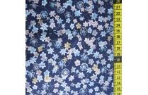Tissu patchwork japonais SEVENBERRY petite fleur sur bleu