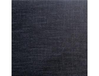 Tissu patchwork japonais tissé uni noir profond