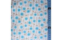 Tissu patchwork japonais KEI FABRICS fleurs bleues fond blanc