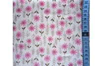Tissu patchwork japonais KEI FABRICS fleurs roses