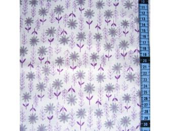 Tissu patchwork japonais KEI FABRICS fleurettes violettes