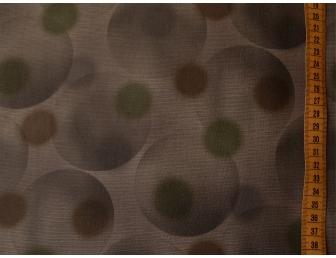 Tissu patchwork japonais gros ronds fond marron