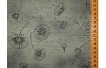 Tissu patchwork japonais fleuri fond vert